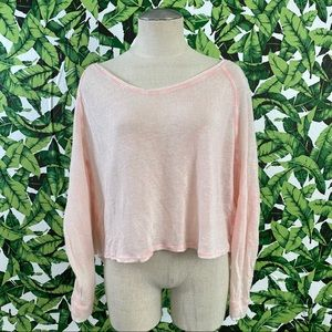 We The Free Thin Knit Crop Sweater
